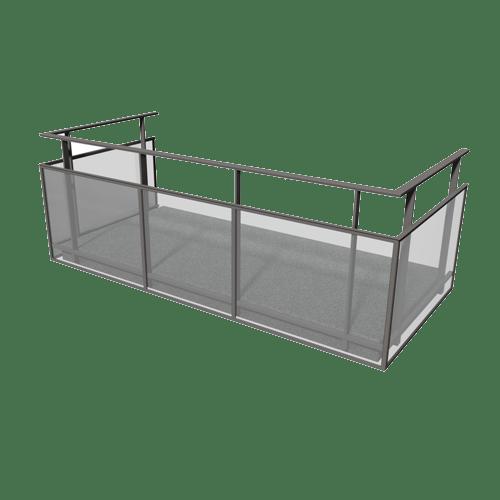 Produktbild Glas i ram räcke 800